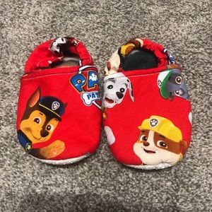 Other - Handmade fleece lined paw patrol slippers